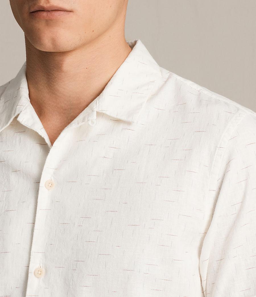 Hombre Camisa de manga corta Eugene (ecru_white) - Image 1