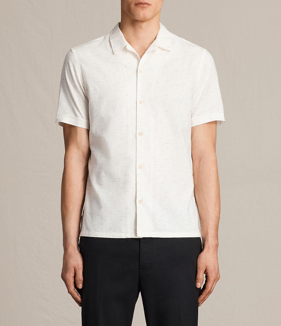 Hombre Camisa de manga corta Eugene (ecru_white) - Image 2