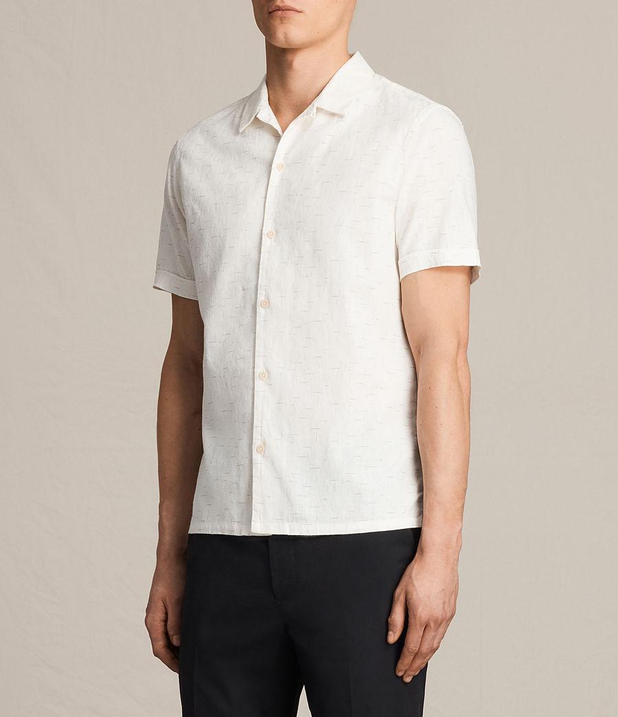 Hombre Camisa de manga corta Eugene (ecru_white) - Image 3