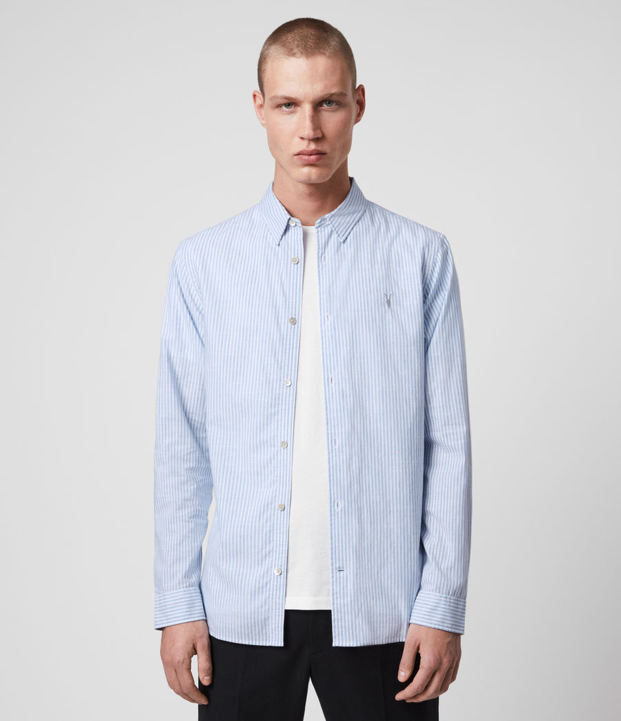 Mens Lorimer Shirt (white_light_blue) - Image 1