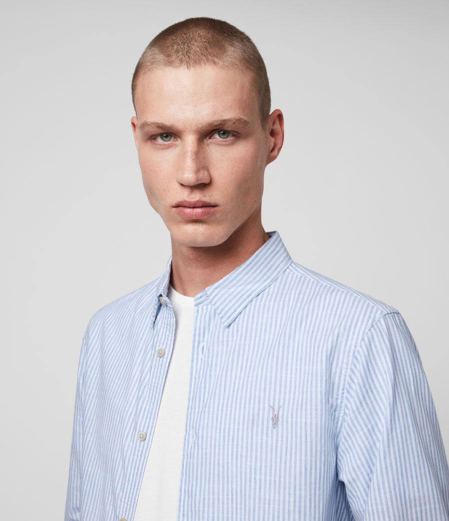 Mens Lorimer Shirt (white_light_blue) - Image 2