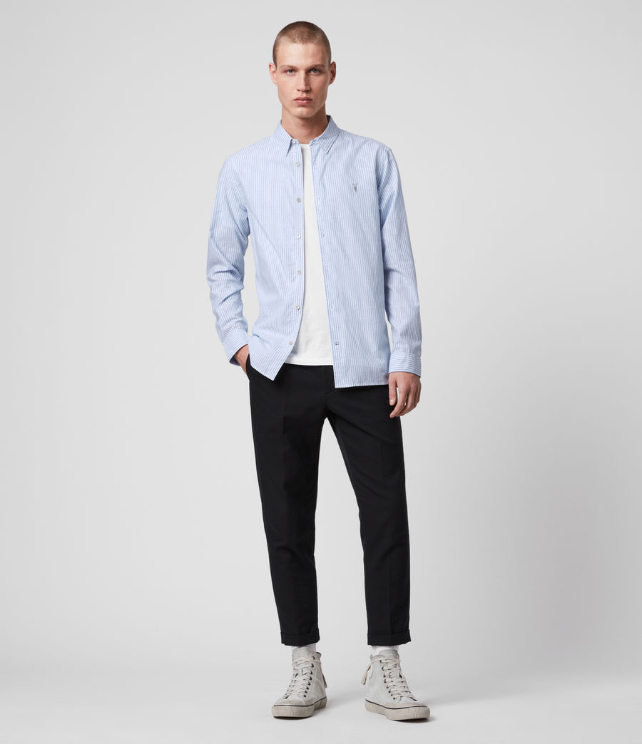 Mens Lorimer Shirt (white_light_blue) - Image 3