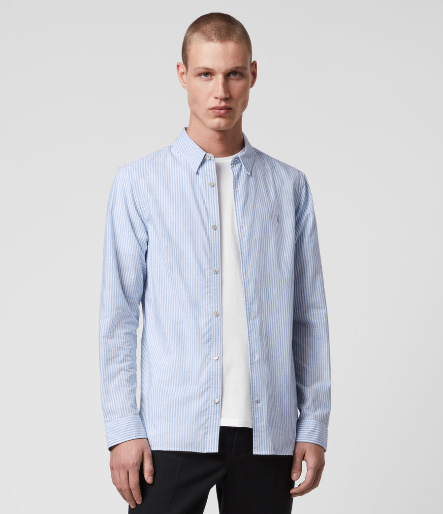 Mens Lorimer Shirt (white_light_blue) - Image 4