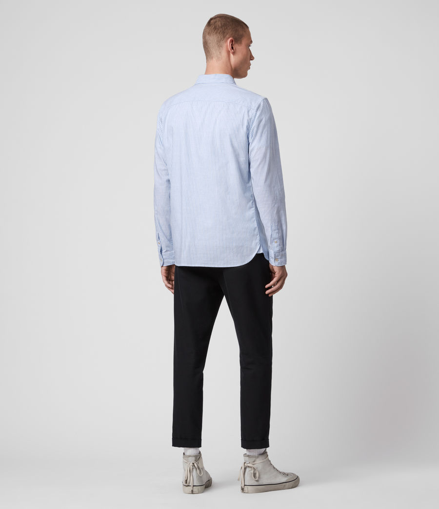 Mens Lorimer Shirt (white_light_blue) - Image 5