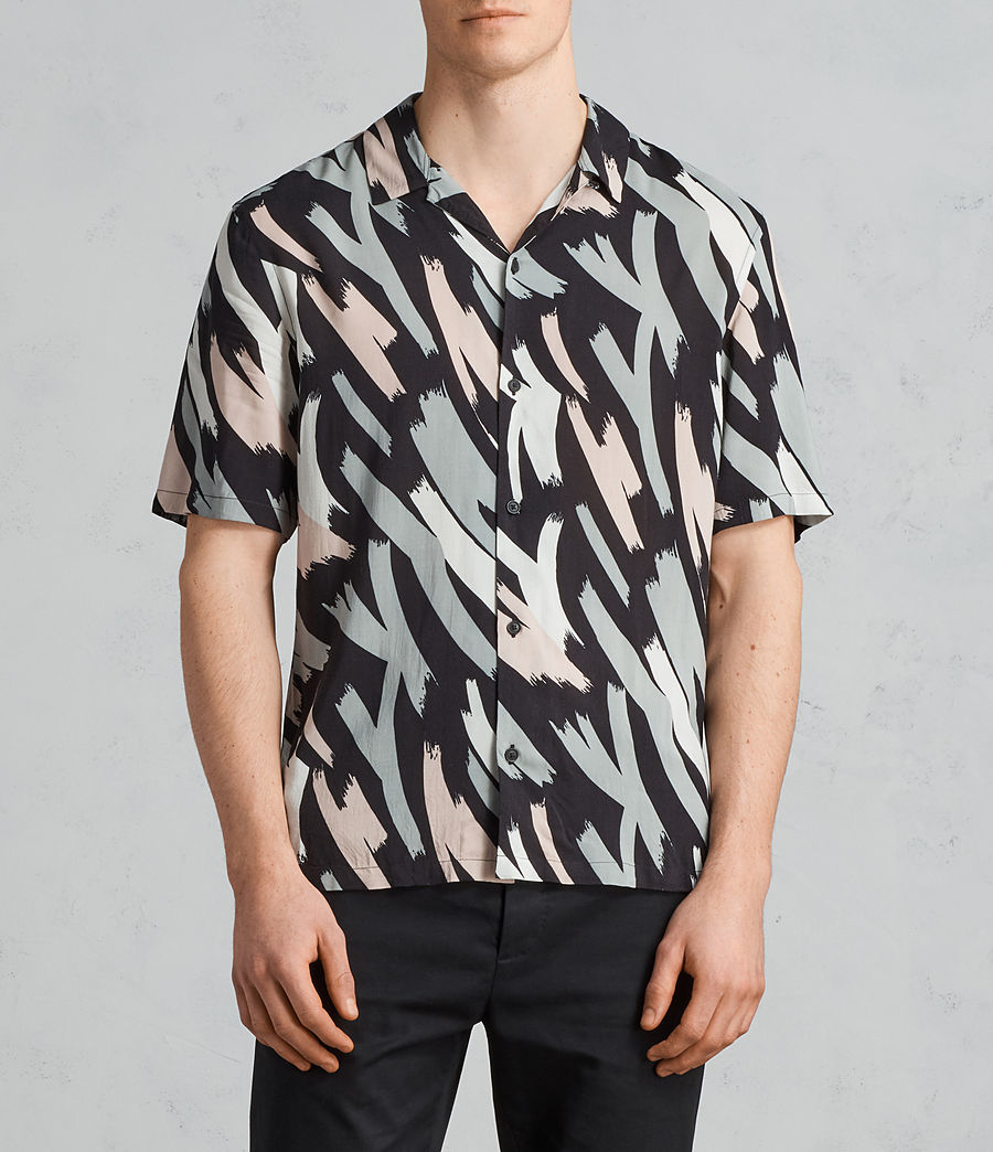 Mens Rope Hawaiian Shirt (black_camo) - Image 1