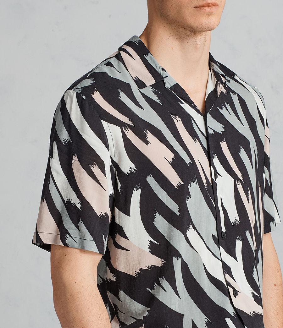 Mens Rope Hawaiian Shirt (black_camo) - Image 2