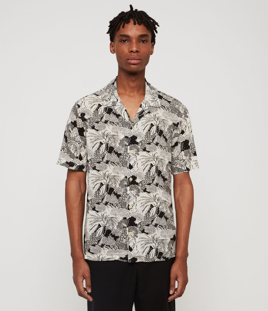 Men's Mauna Hawaiian Shirt (ecru) - Image 1