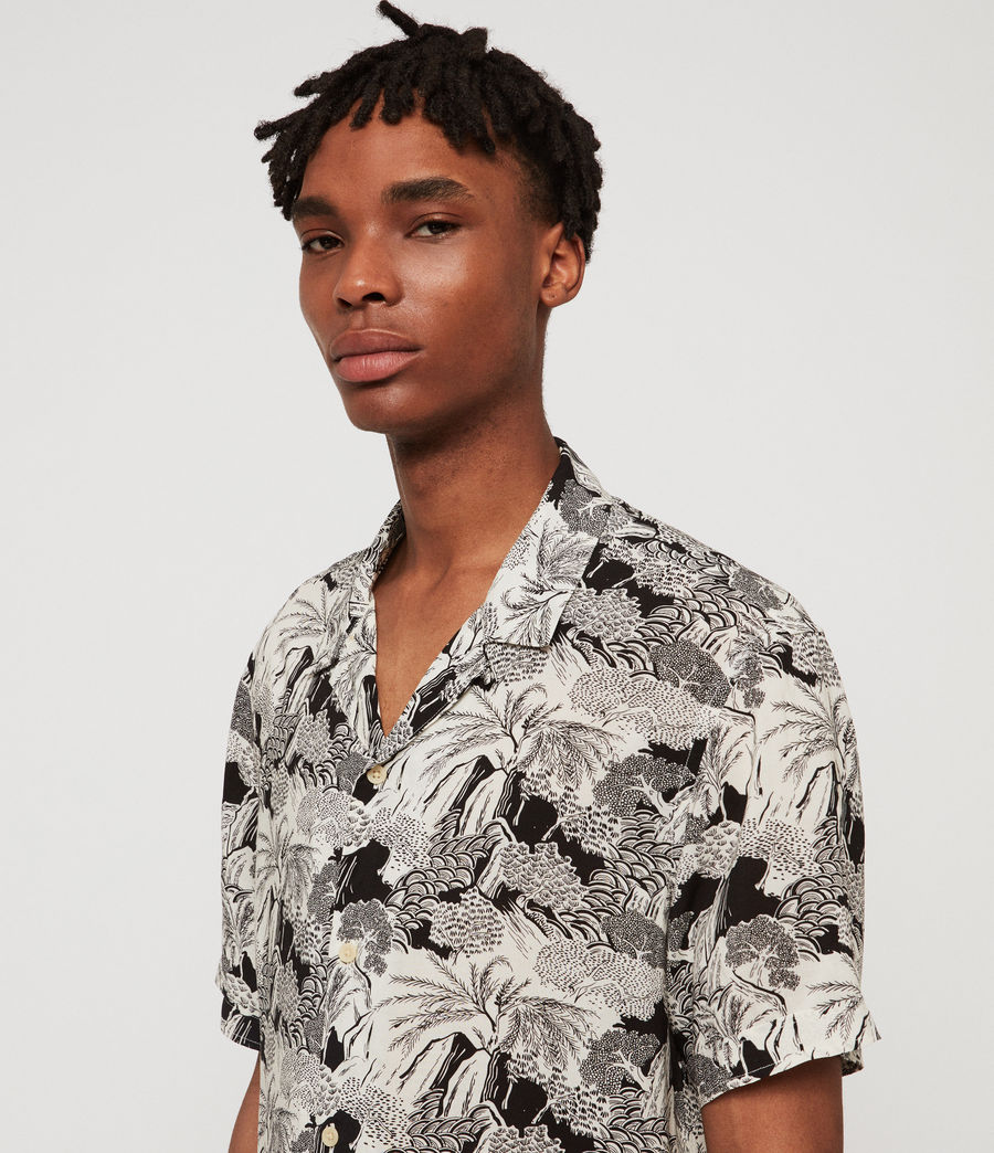 Men's Mauna Hawaiian Shirt (ecru) - Image 2