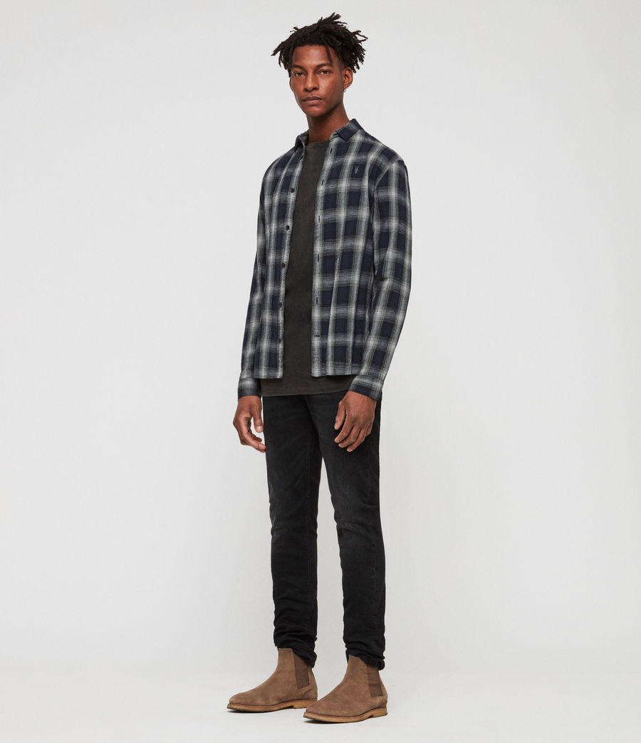Mens Milford Shirt (black_ecru_white) - Image 1