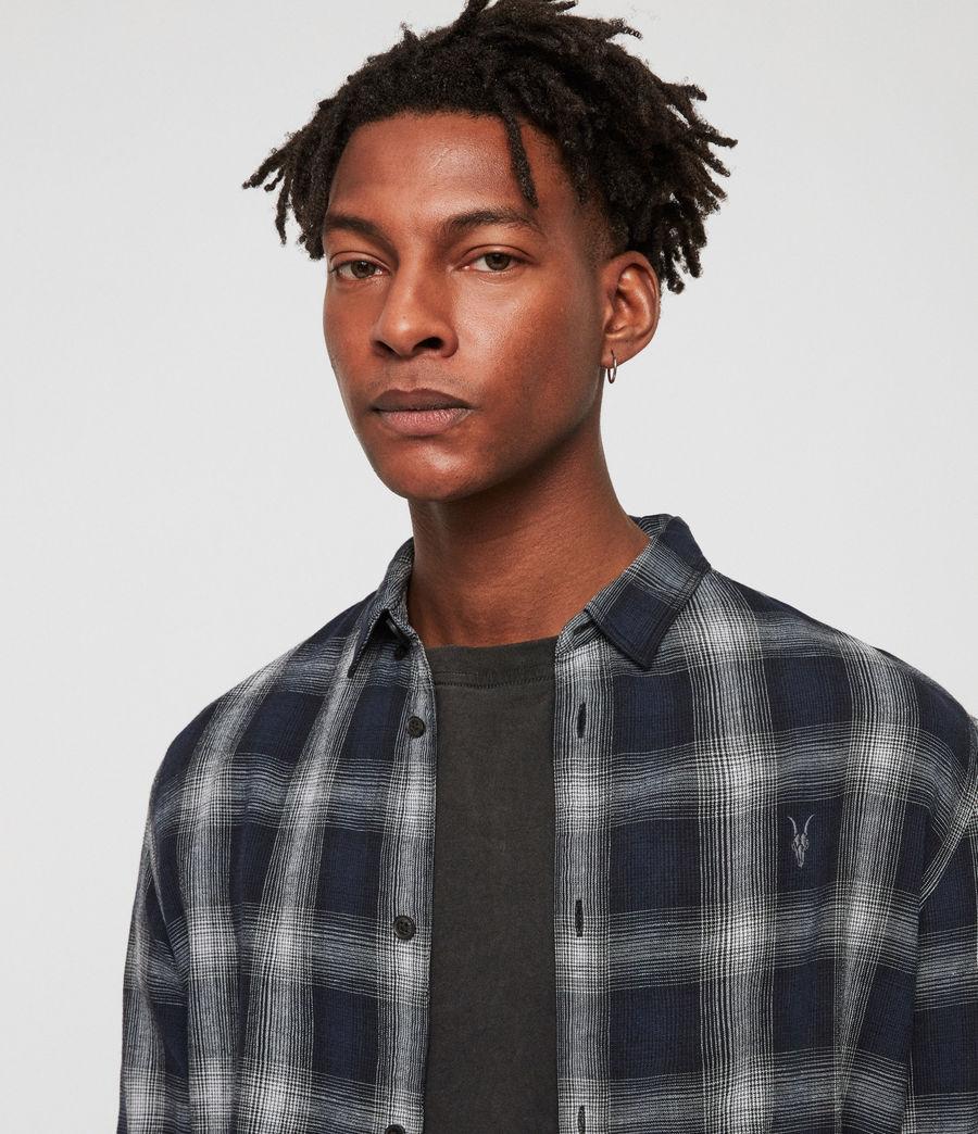 Mens Milford Shirt (black_ecru_white) - Image 3