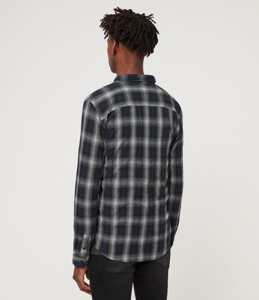 Mens Milford Shirt (black_ecru_white) - Image 4