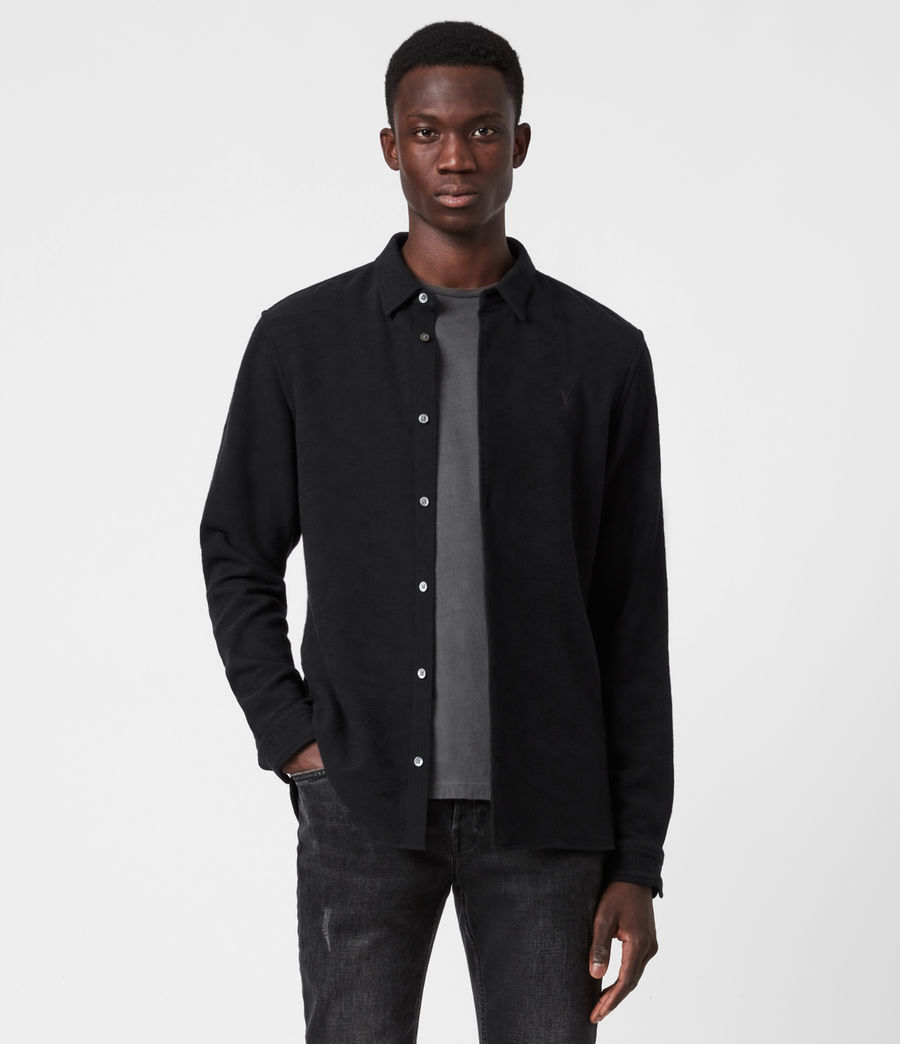 Men's Martial Shirt (jet_black) - Image 1