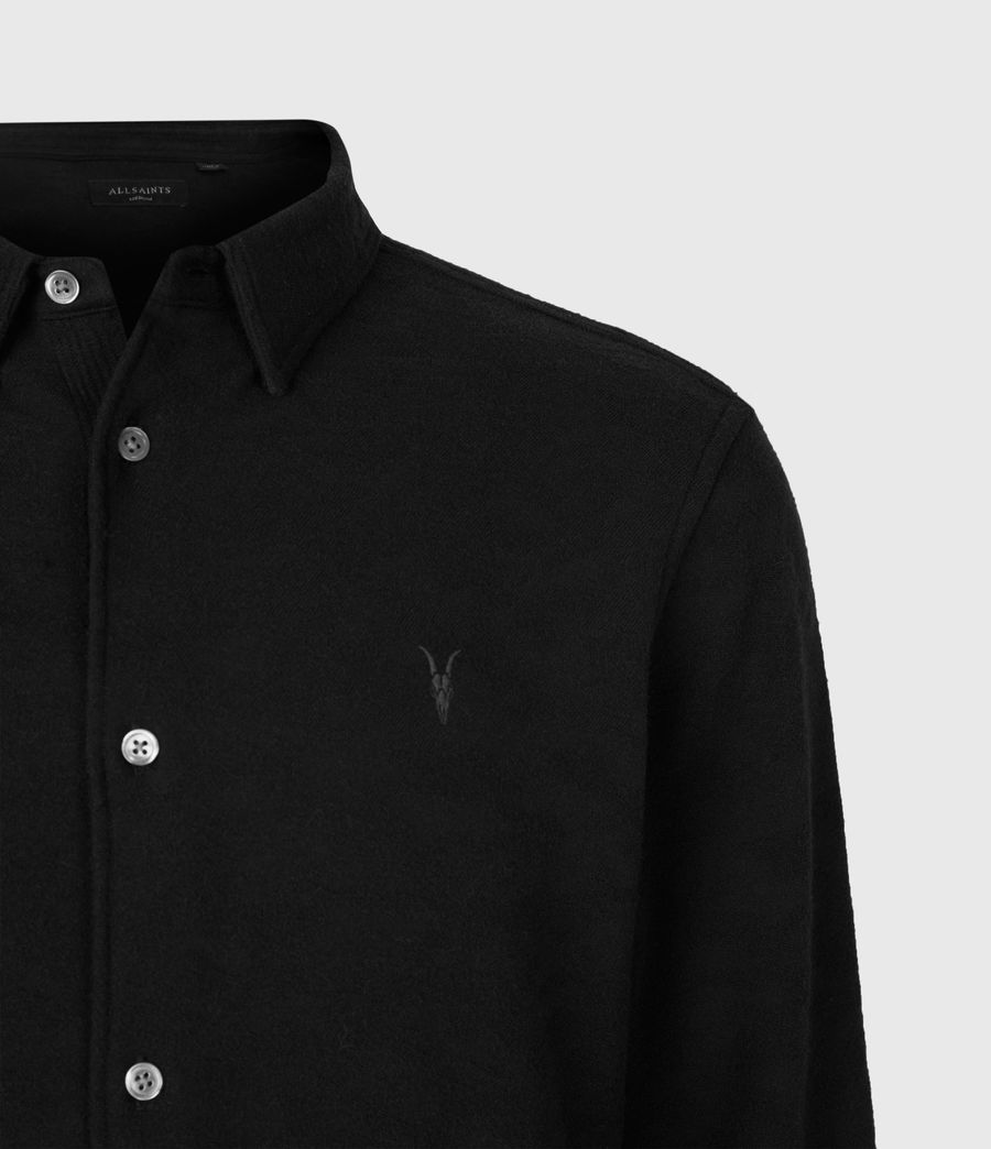 Men's Martial Shirt (jet_black) - Image 4
