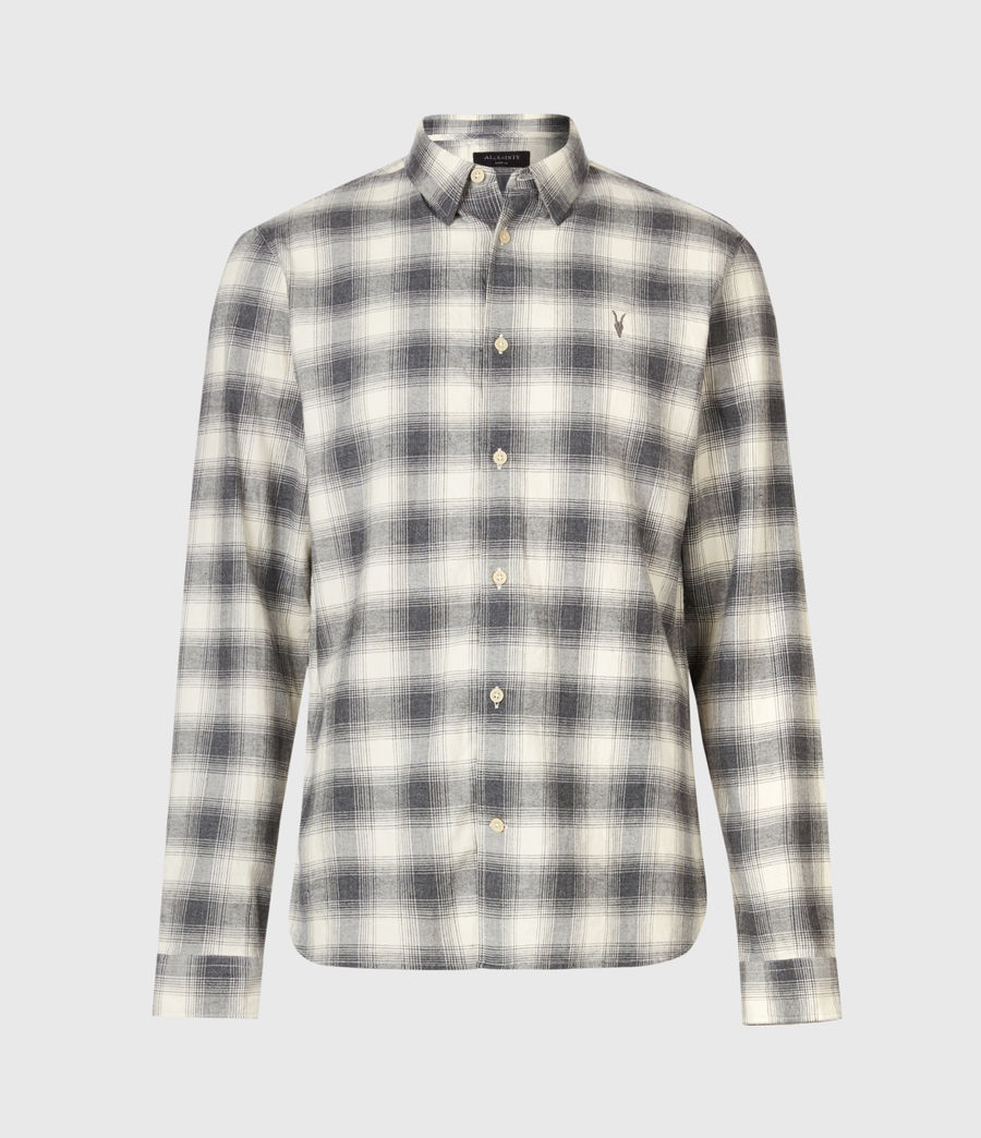 Men's Dogwood Shirt (ecru_charcoal) - Image 2