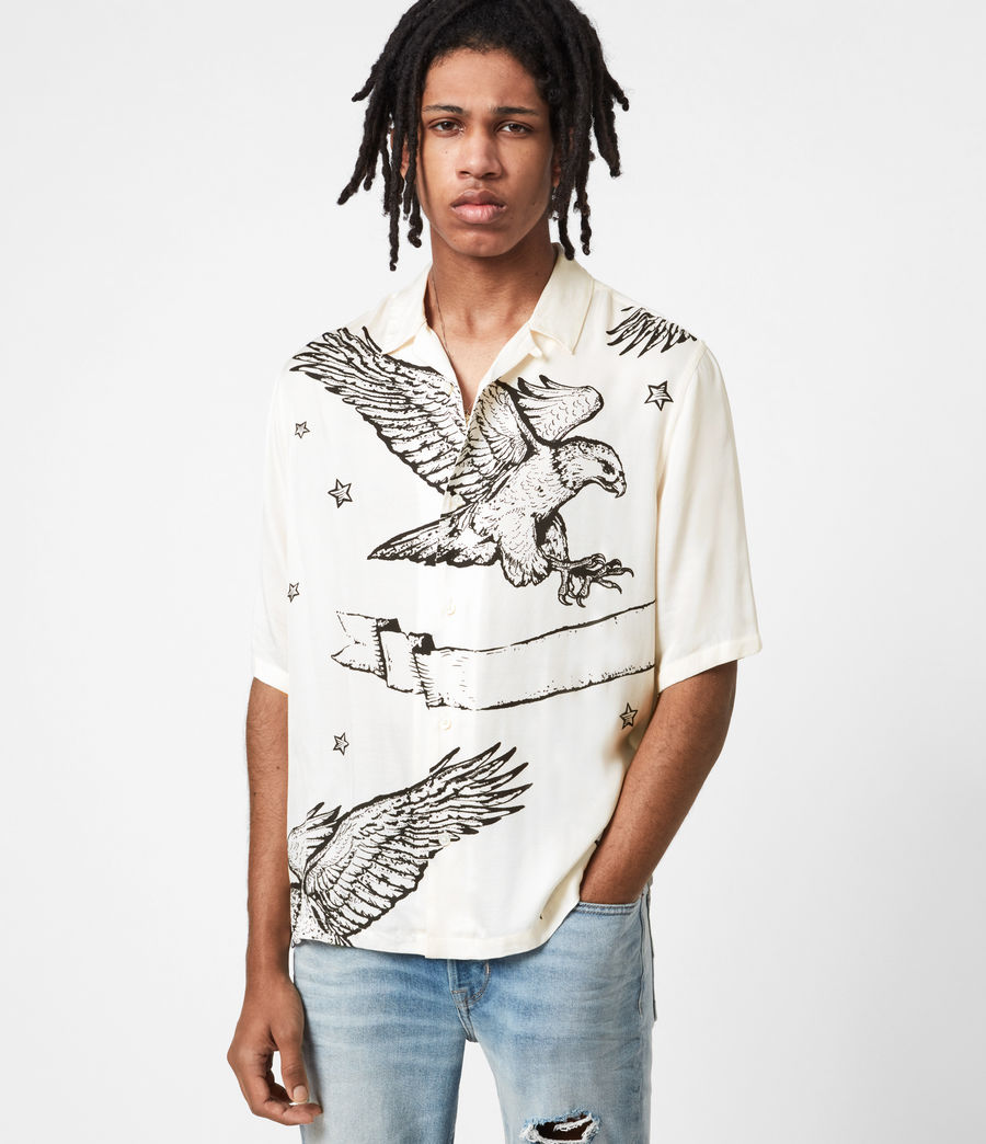 Mens Otis Eagle Shirt (chalk) - Image 1