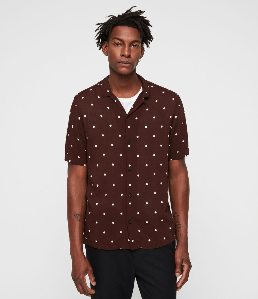 Mens Kuta Shirt (oxblood_red) - Image 1