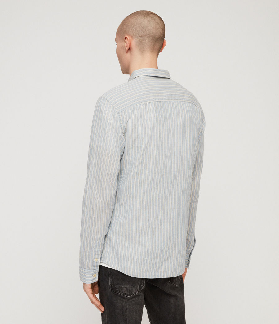 Men's Ambrose Shirt (blue_white) - Image 4