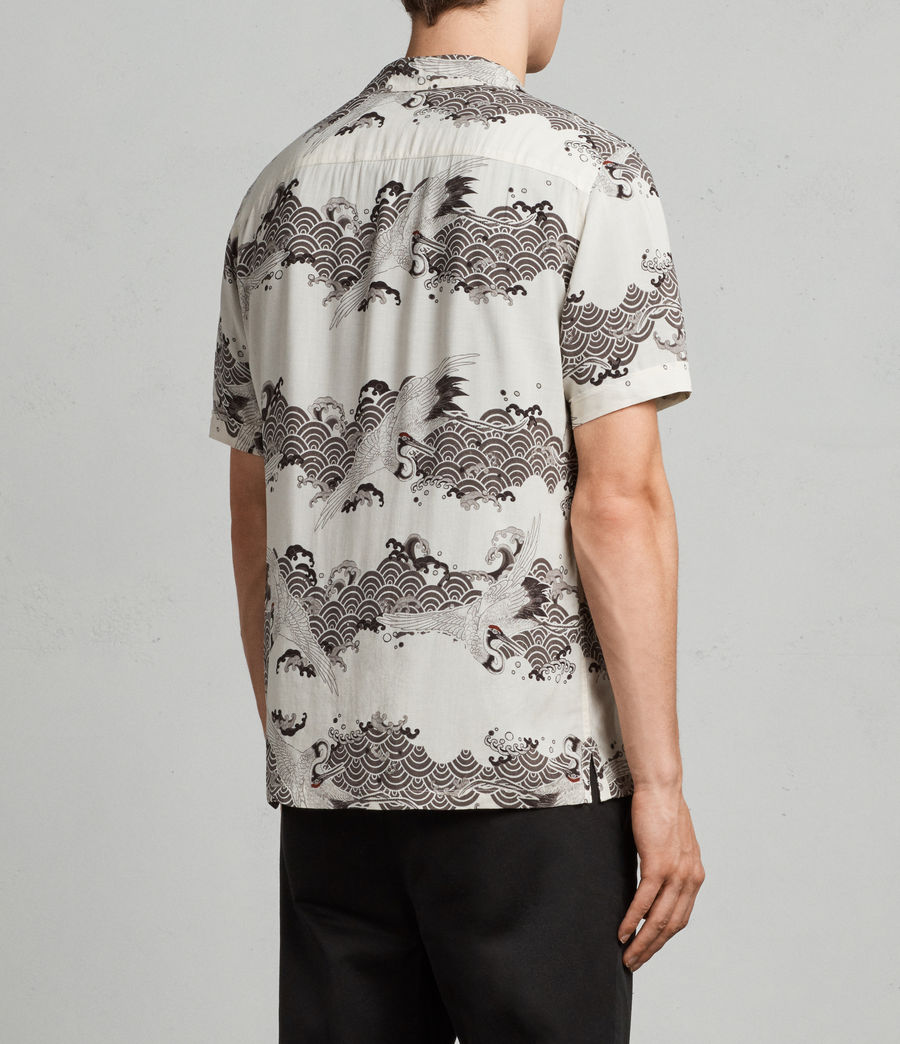 Mens Crane Hawaiian Shirt (ecru_white) - Image 4