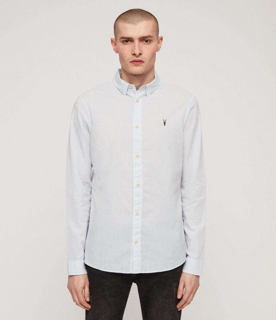 Men's Odell Shirt (blue_white) - Image 4