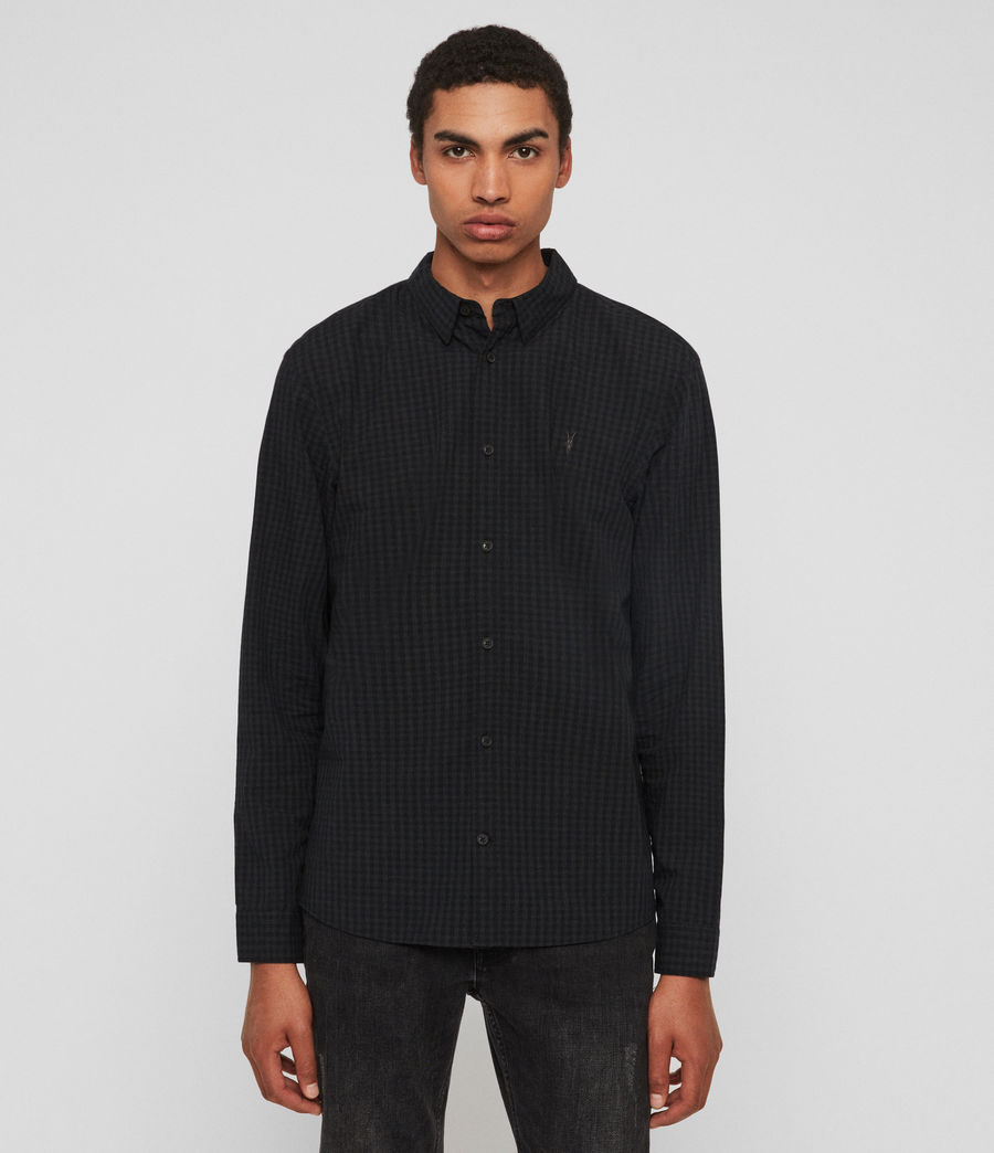 Mens Denaud Shirt (black_grey) - Image 1