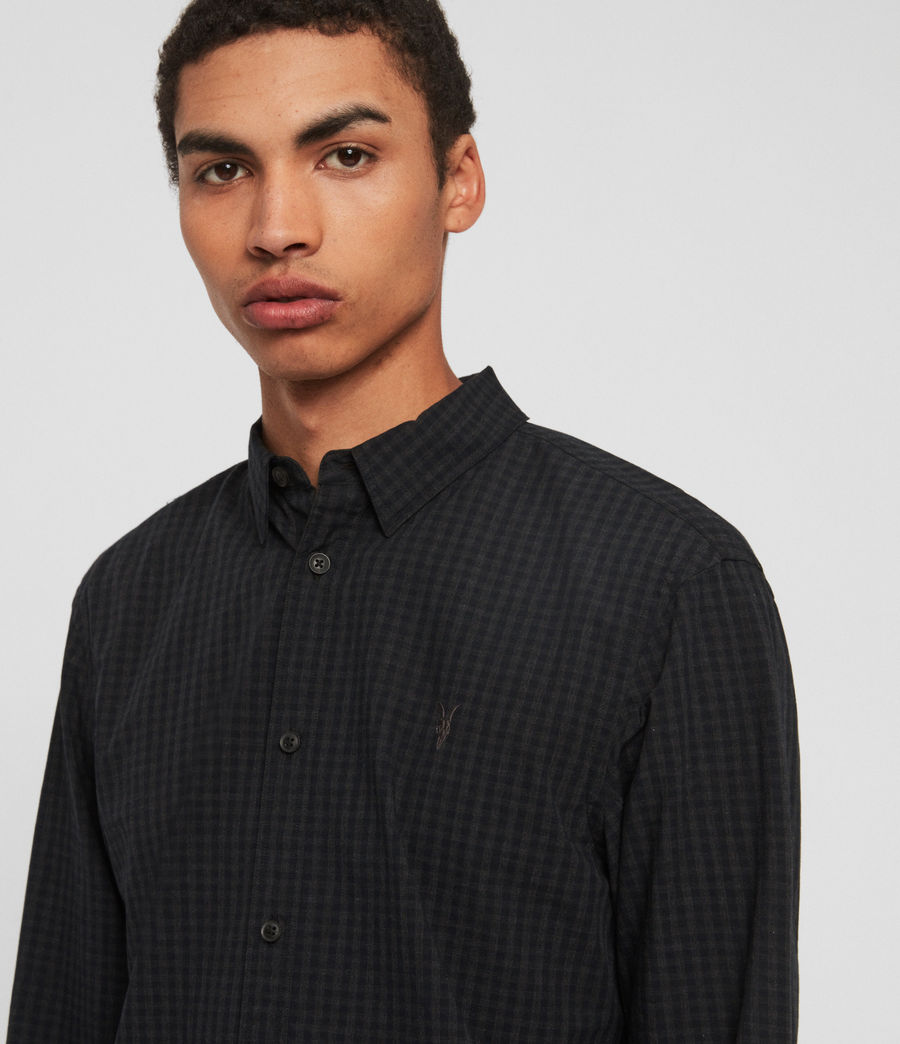 Mens Denaud Shirt (black_grey) - Image 2