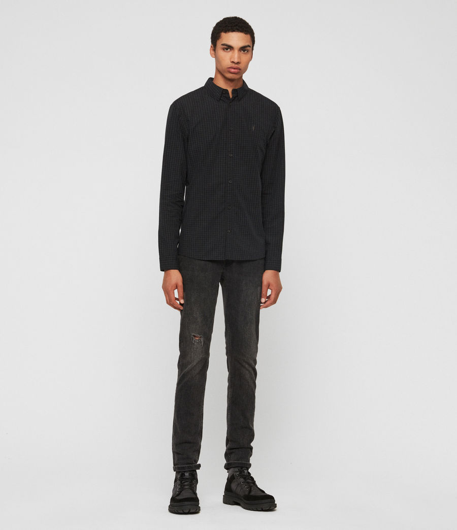 Mens Denaud Shirt (black_grey) - Image 3