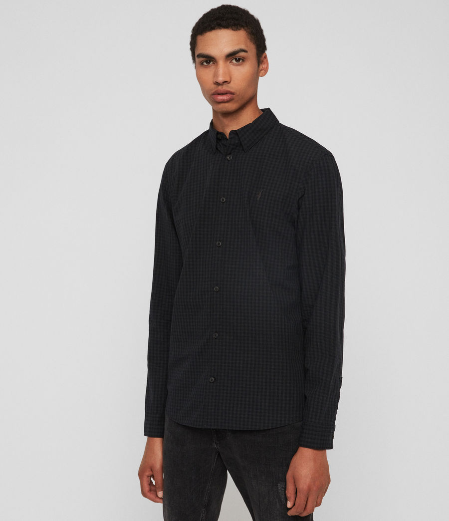 Mens Denaud Shirt (black_grey) - Image 4