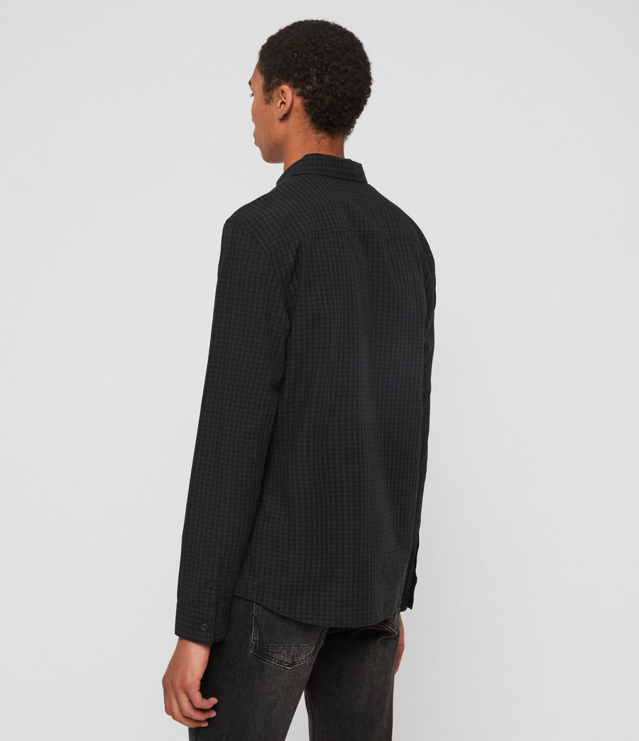 Mens Denaud Shirt (black_grey) - Image 5