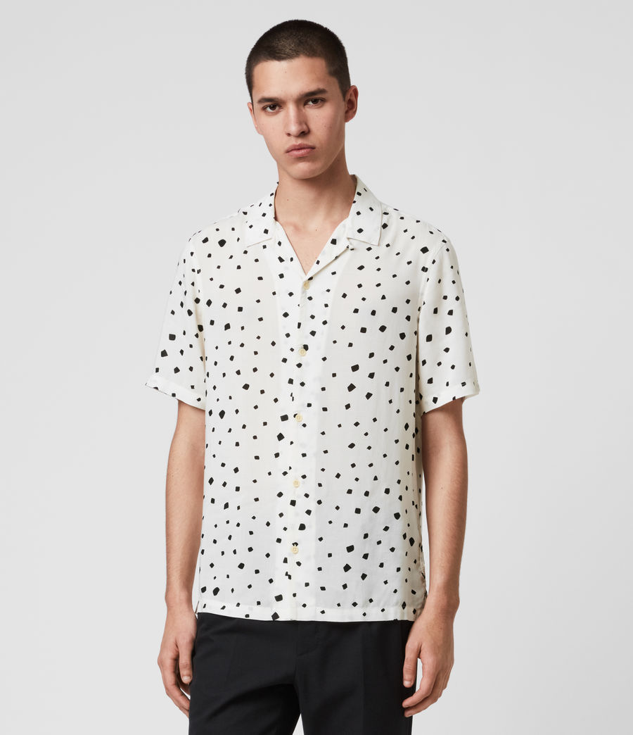 Men's Albedo Shirt (ecru_jet_black) - Image 1