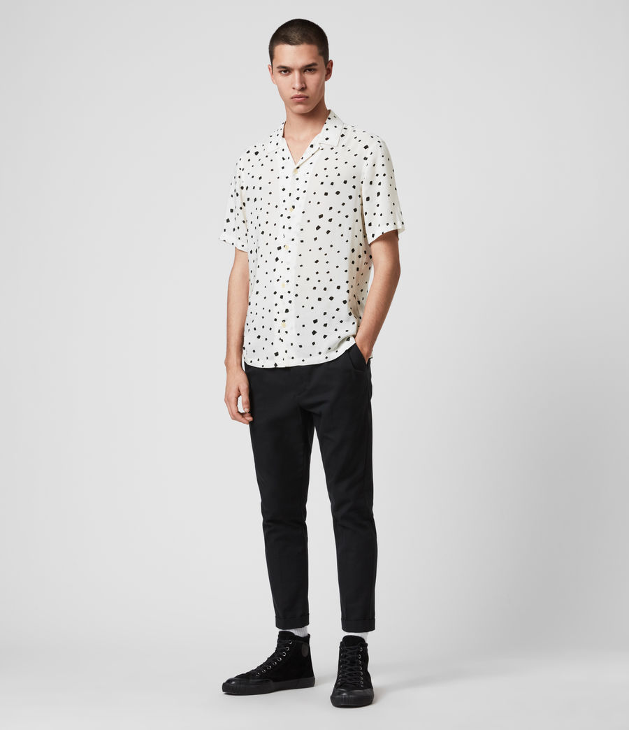 Men's Albedo Shirt (ecru_jet_black) - Image 3