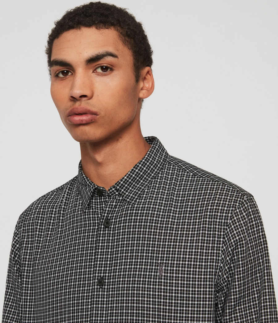Men's Ortona Shirt (black_ecru_white) - Image 1