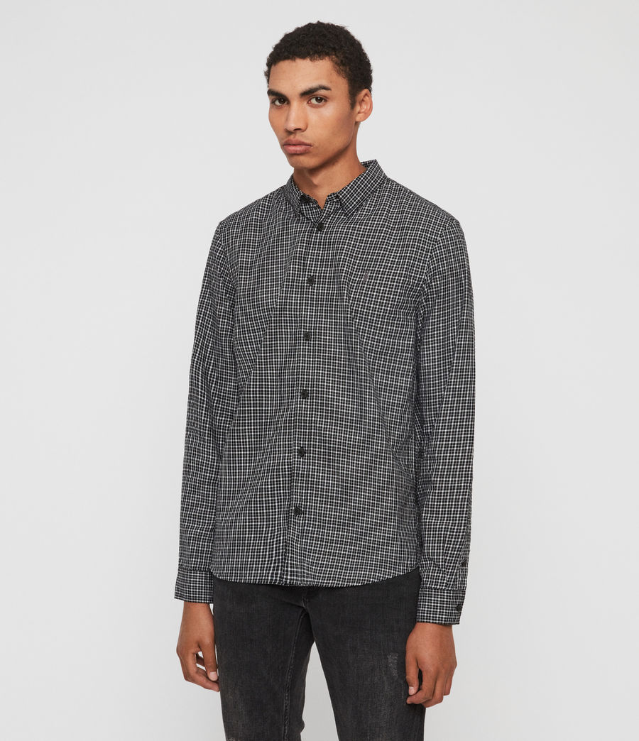 Mens Ortona Shirt (black_ecru_white) - Image 3