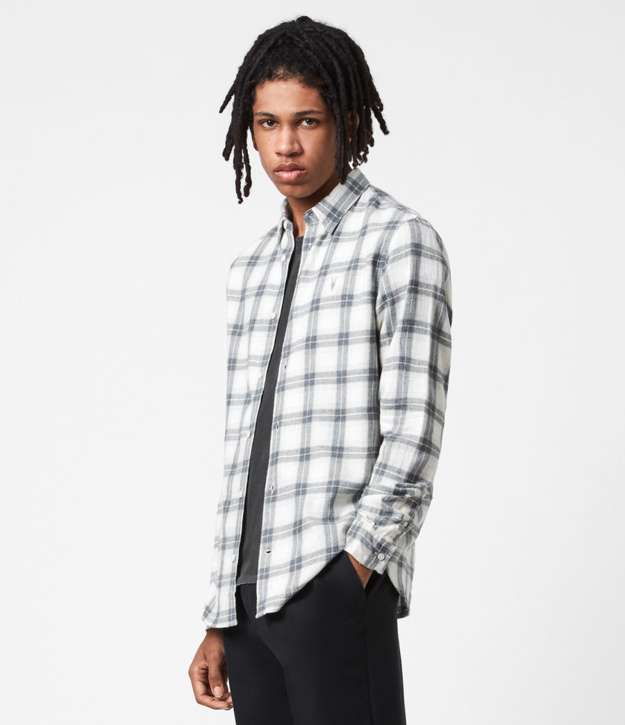 Mens Aviston Shirt (ecru) - Image 1