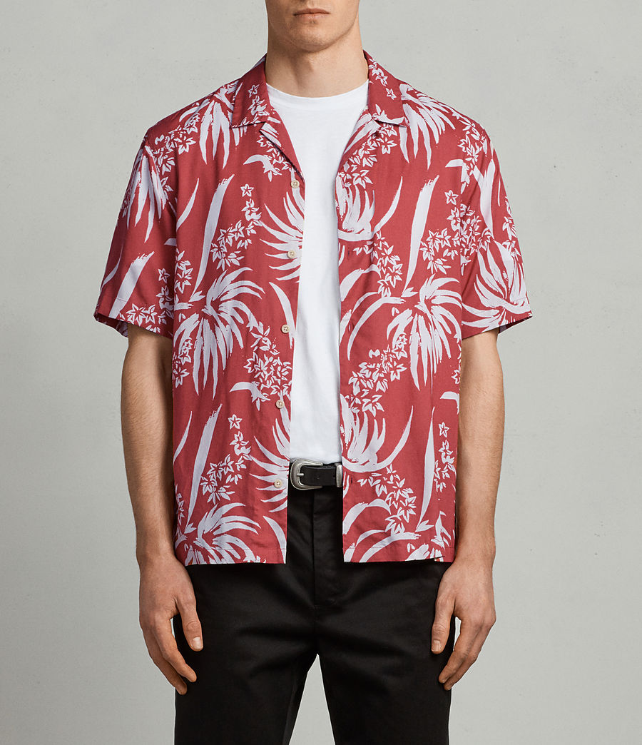 Mens Koloa Shirt (Blood Red) - Image 1