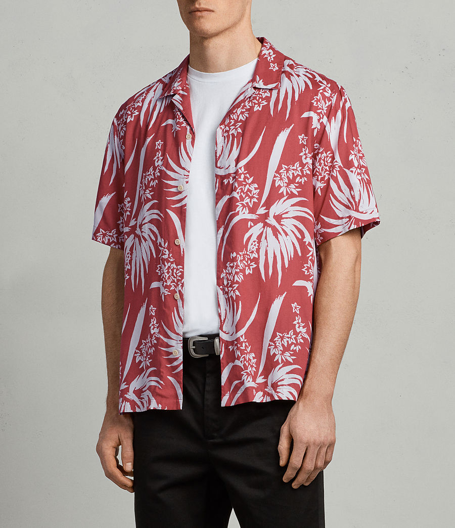 Mens Koloa Shirt (Blood Red) - Image 3