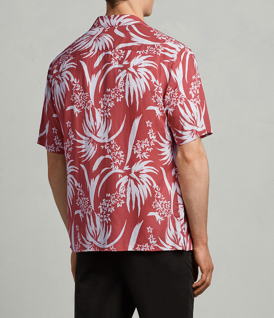 Mens Koloa Shirt (Blood Red) - Image 4