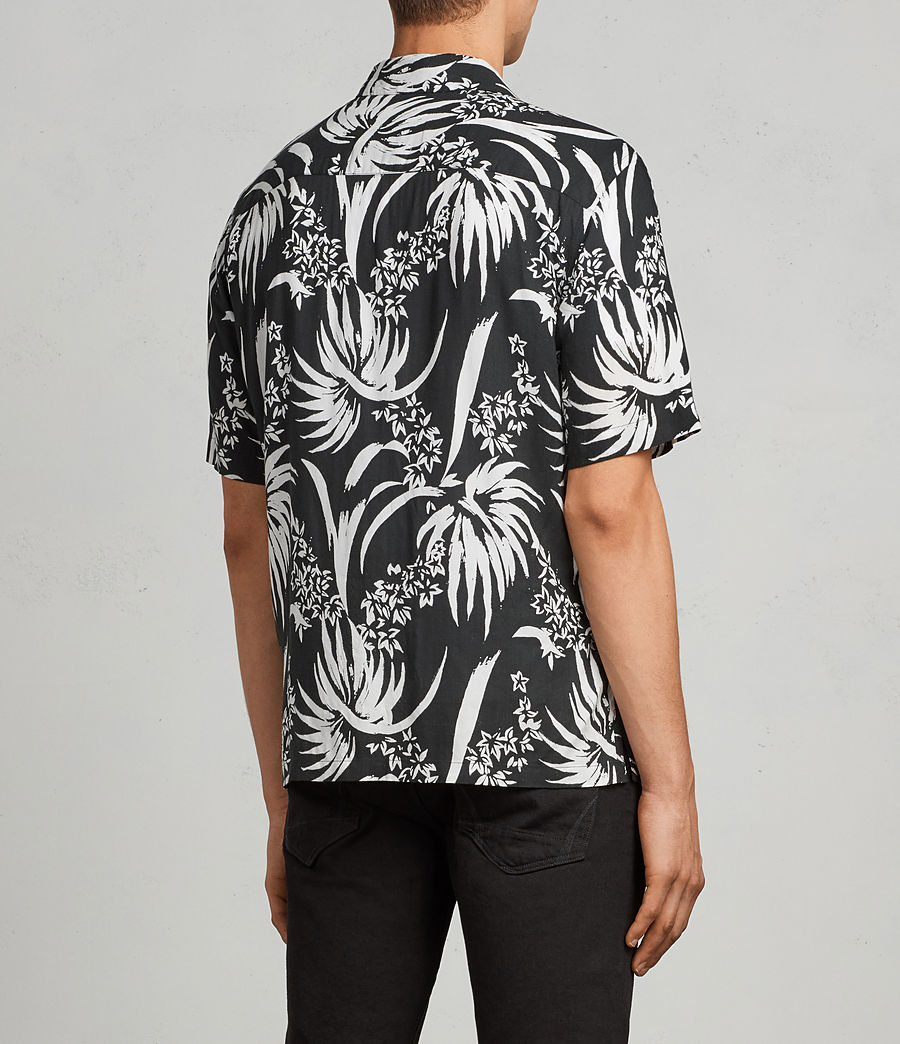 Men's Koloa Hawaiian Shirt (black_chalk_white) - Image 4