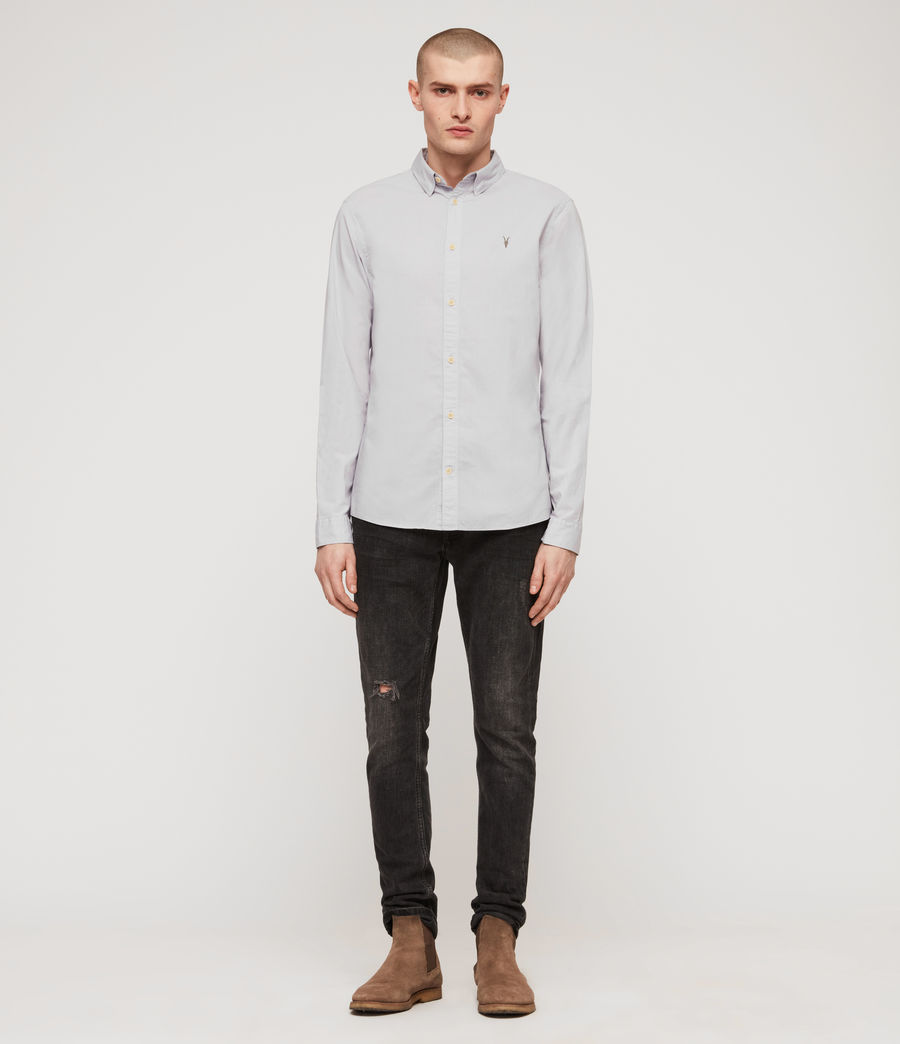 Hommes Lester Shirt (light_grey) - Image 3