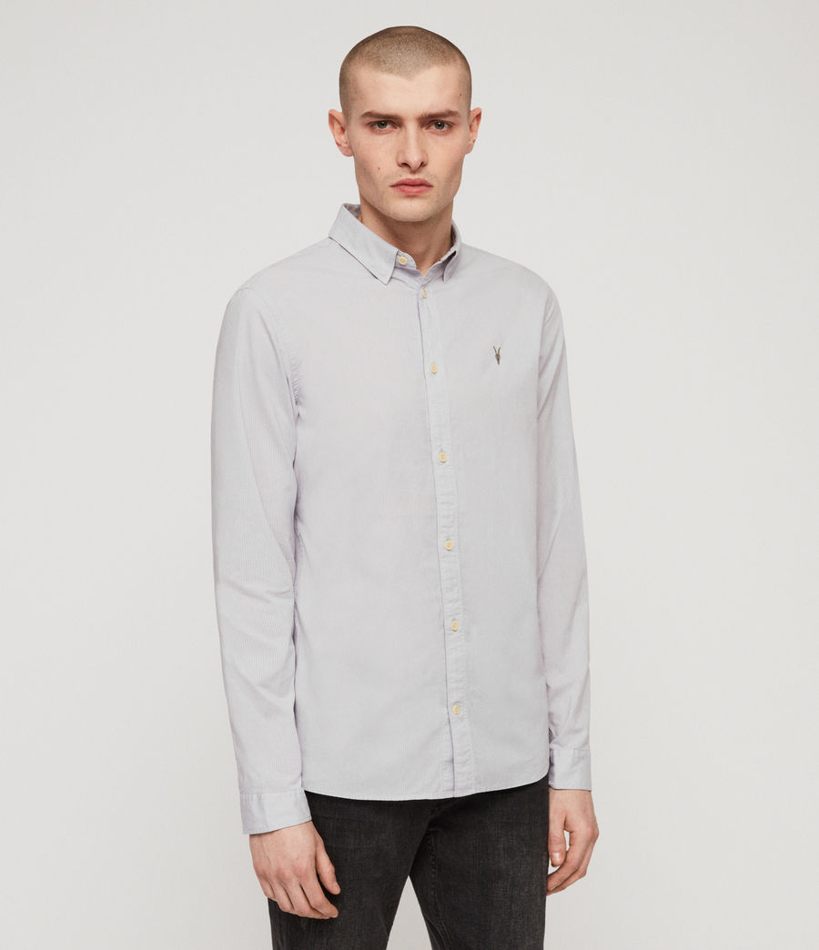 Hommes Lester Shirt (light_grey) - Image 4