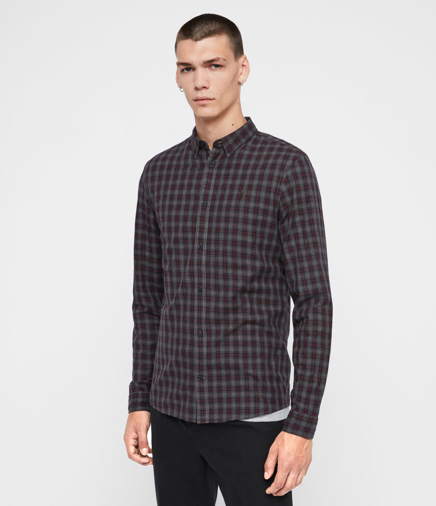 Mens Traxler Shirt (charcoal_oxblood) - Image 4