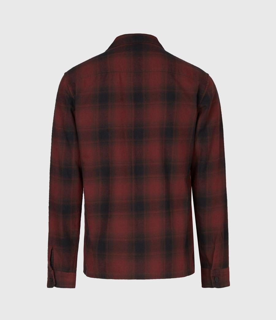 Herren Kephart Long Sleeve Hemd (red) - Image 3