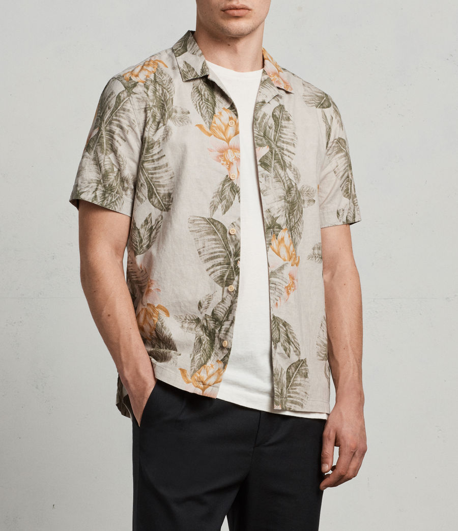 Men's Omao Hawaiian Shirt (ecru_white) - Image 1