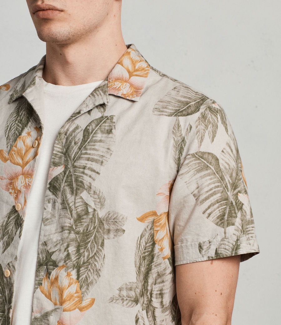 Men's Omao Hawaiian Shirt (ecru_white) - Image 2