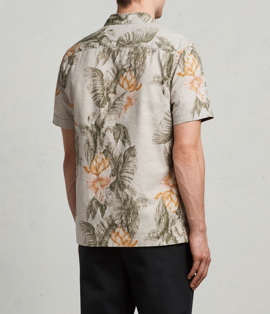 Men's Omao Hawaiian Shirt (ecru_white) - Image 4