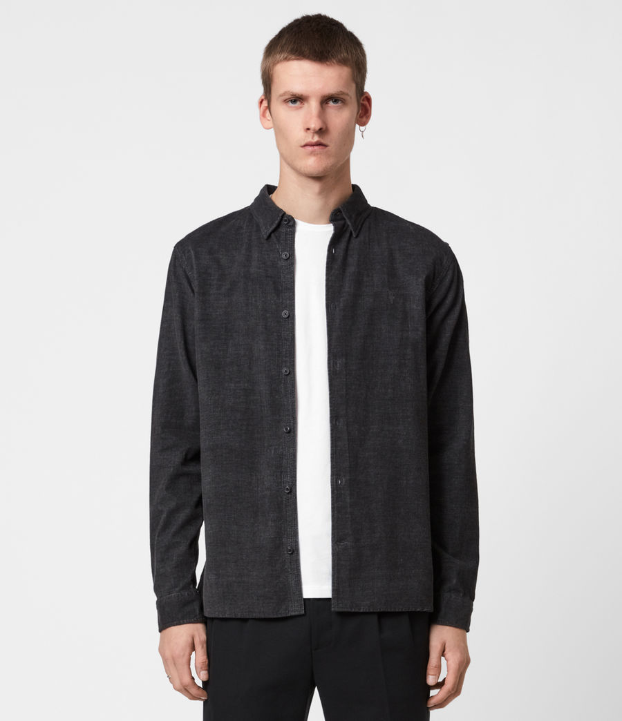 Mens Lorella Corduroy Shirt (jet_black) - Image 1
