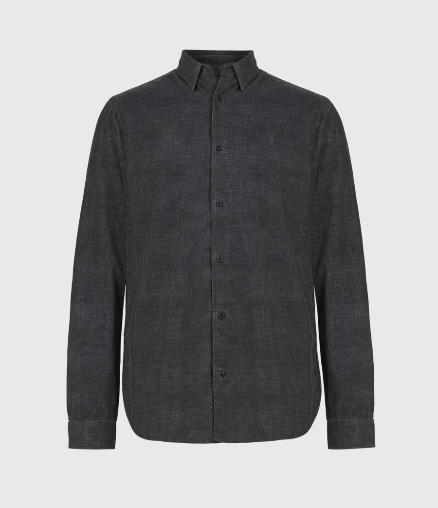 Mens Lorella Corduroy Shirt (jet_black) - Image 2