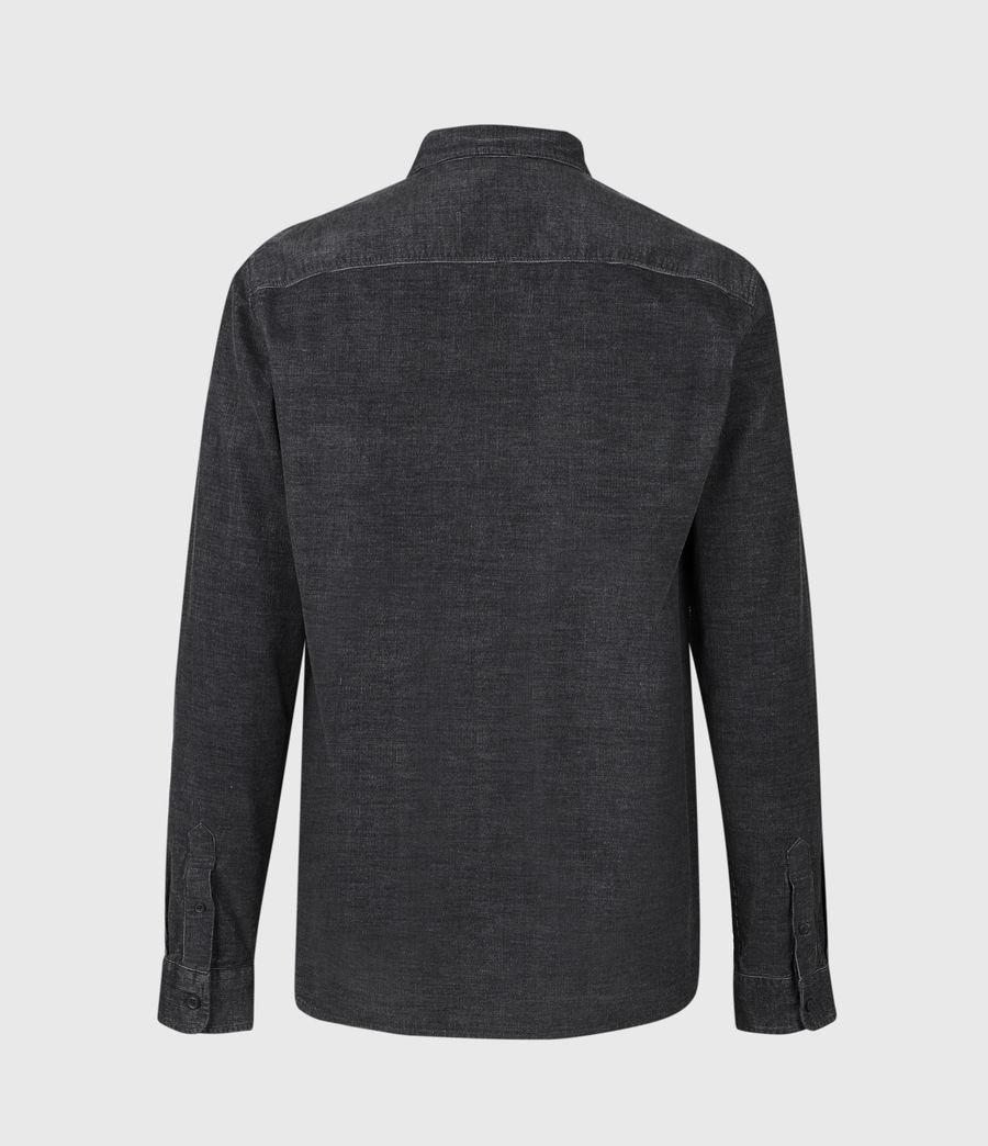 Mens Lorella Corduroy Shirt (jet_black) - Image 3