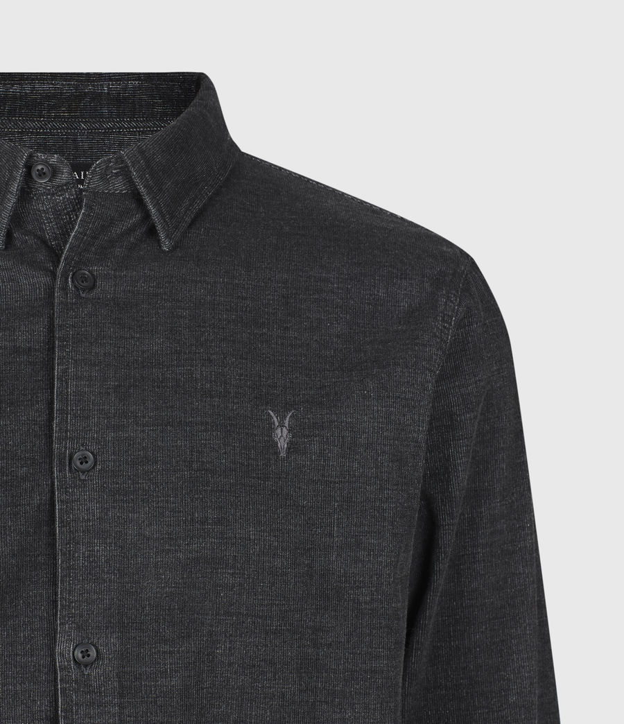 Mens Lorella Corduroy Shirt (jet_black) - Image 5
