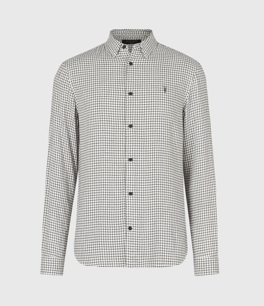 Mens Tilden Shirt (ecru_black) - Image 2