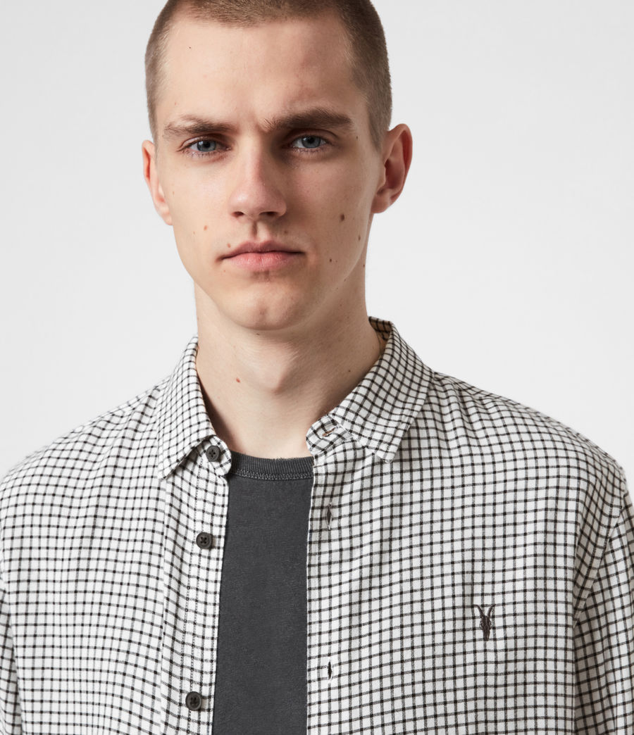 Mens Tilden Shirt (ecru_black) - Image 4